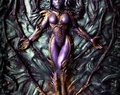 A5 Dark Lord polymer clay journal fantasy goth horror от ClaymanPL