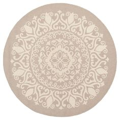 Beige/Ivory Abstract Tufted