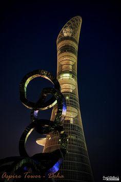 Aspire Tower - #Doha #Qatar by {{ A N G E L }} #photography