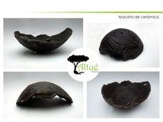 """Maceta de cerámica estilo kurama, mas conocida como """"piedra lunar"""", para bonsais."""