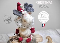Etsy update 🥰 my new pattern is available 🎉🎉 enjoy Crochet Toys Patterns, Stuffed Toys Patterns, Doll Patterns, Half Double Crochet, Single Crochet, Christmas Moose, Gothic Dolls, Halloween Doll, Instagram Widget