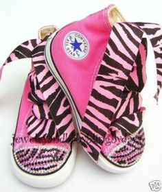 Baby bling shoes   Baby Bling Converse Pink Zebra Crsytal Sneakers Shoes   eBay