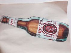 Bottle drawing BY me 2014. Suzanna Paulla Bomfim