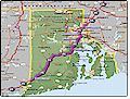 I-95 Rhode Island map