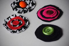 Creative teen gift idea -Pink & Black pins kit (makes 4) - Holiday Gift Craft | Wild About Crafts