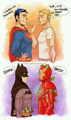 Imagem de batman, superman, and funny