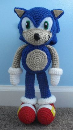 sonic the hedgehog amigurumi by TheArtisansNook.deviantart.com on @deviantART