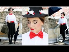Mary Poppins Tutorial | MakeUp, Hair, and Outfit - YouTube