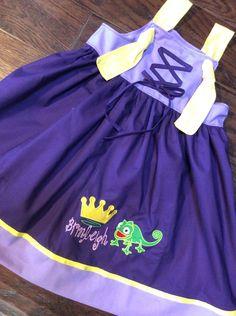 Rapunzel Princess Dress Girls Rapunzel Dress by BoogerbearPunkinpooh on Etsy