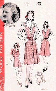 Hollywood 1107 Dishy Jumper, Shorts & Blouse / ca. 1943