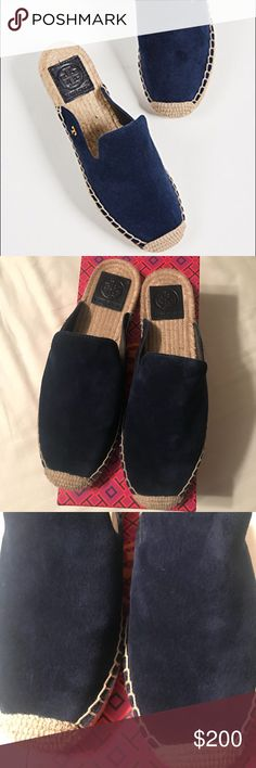 98b2e68b4f76 Tory Burch suede espadrille slides Brand new
