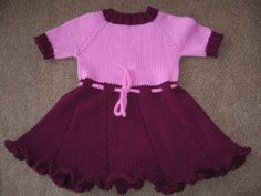 Free Knitting Pattern - Toddler & Children's Clothes: Blossom Top/Dress