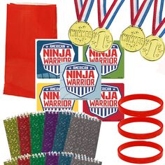 12 Guest - American Ninja Warrior Favor Sets for sale online Disney Party Games, Childrens Party Games, Tween Party Games, Bridal Party Games, Princess Party Games, Graduation Party Games, Bachelorette Party Games, Halloween Party Games, Game Party