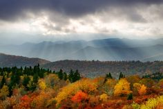 Gorgeous fall color blankets the Blue Ridge Mountains near Asheville. Photo by Dave Allen.