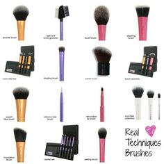 fabulous makeup brushes by Real Techniques
