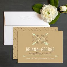 Rustic Arrows Save The Dates