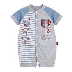 Baby Boy's Monkey Romper - Pepperbox Clothing