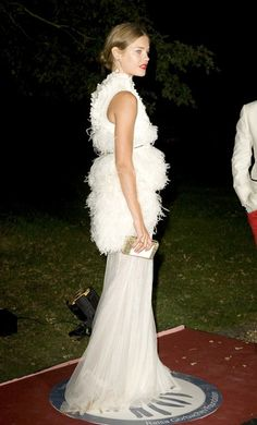 Natalia Vodianova in Givenchy Fall 2011 Couture gown at 2011 Raisa Gorbachev Foundation's annual party which was held at Stud House, Hampton Court in London