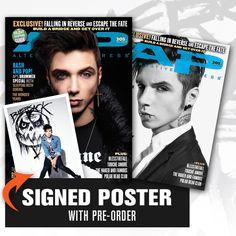 "Alt Press ""FREE SIGNED poster + 305.1 & 305.2 Andy Biersack (12/13)"" Bundle at http://www.indiemerch.com"