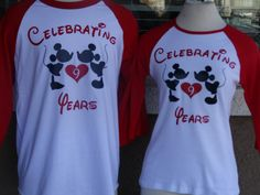 Free Shipping Disney Inspired Couples 3/4 long by DsWishingWell
