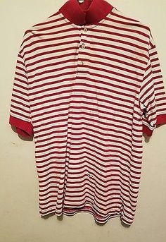 AHead Authentic Polo Shirt Medium/Stripes Pre-owned
