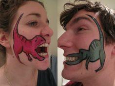 Vegan Faces face paint dinosaur t rex