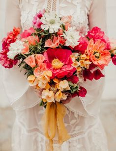 Culture + Color Collide in this Mexican-Inspired Wedding Editorial - Green Wedding Shoes - Wedding Floral Wedding, Wedding Colors, Wedding Bouquets, Wedding Flowers, Purple Wedding, Wedding Dresses, Mexican Themed Weddings, Mexican Flowers, Mexican Colors