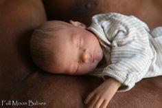 Micro Preemie Caleb Reborn baby boy painted hair OOAK baby doll A Must See!!! | eBay