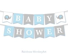 Items similar to Baby Shower Bunting Flags - Baby Shower Decoration Party Flags - Pennant Flags - It's A Boy Elephant Baby Boy Shower - Team Blue on Etsy Baby Shower Photo Booth, Baby Shower Bunting, Shower Banners, Baby Boy Shower, Gender Reveal Party Decorations, Baby Shower Decorations, Wedding Decorations, Invitaciones Baby Shower Niña, Dibujos Baby Shower