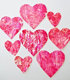 VALENTINE SHAVING CREAM HEART ART WITH KIDS