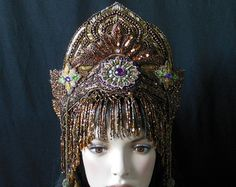 Silver goddess Fantasy Queen Cleopatra Ice Princess by MIMSYCROWNS