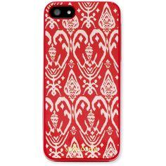 Stella & Dot Signature iPhone Case - Red Ikat ($29) ❤ liked on Polyvore