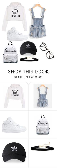 """Untitled #393"" by zoe-maddss on Polyvore featuring NIKE and adidas"