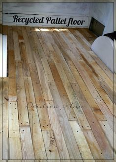 cheap way to make your own wood flooring -