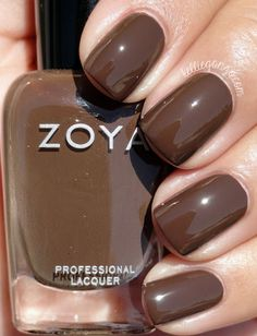 Zoya Desiree - a classic sable brown cream that has just enough gray to keep it cool in tone. Brown Nail Polish, Zoya Nail Polish, Brown Nails, Nail Polish Colors, Gel Nail, Nail Polish Designs, Nail Designs, Gel Nagel Design, Cream Nails