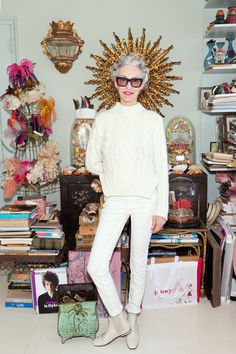 Linda Rodin - I hope to have one iota of her coolness when I'm 63. She's the grooviest.