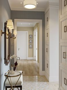 storage in a hallway, so smart