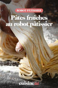 C'est facile et rapide de réaliser des pâtes fraîches maison au robot pâtissier. #recette#cuisine#pates#patesfraiches #robotculinaire #robot #robotpatissier #robotmenager