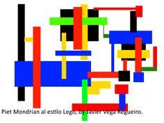 Piet Mondrian al estilo Lego.