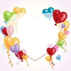 Happy Birthday Hearts, Happy Birthday Frame, Happy Birthday Wallpaper, Birthday Frames, Happy Birthday Wishes, Birthday Cards, Birthday Background Images, Heart Background, Eid Mubarak Wallpaper