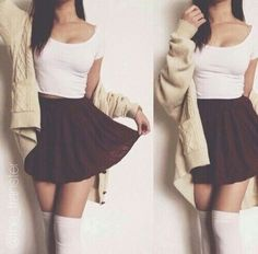 Image result for thigh high sock outfits