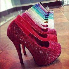 Rainbow pumps  #fashion #shoes #wedges #shoes #blackheels #heels #stilettos #Shoes #cuteshoes #pumps #sandals #flats #feet #hotshoes #chart #small #pink #leopard #heels #straps #shoes #women #woman #sexyshoe #beautiful #shoegame