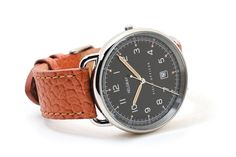 Field Officer watch, Canadian designer, fantastic vintage design pedigree with kickstarter initial funding, and all the class of old-timey mixed with modern technology. Perfect fusion and so bloody zeitgeist for 2014.