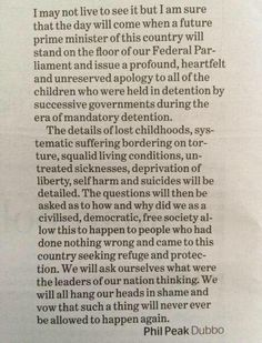 @senthorun #auspol brilliant letter to editor @ smh on Oz's punitive #refugees policies. Thanks, Phil from Dubbo.