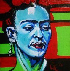 Commission - painting 9/10 - Mini Painting 5/6 - Frida Feeling Blue