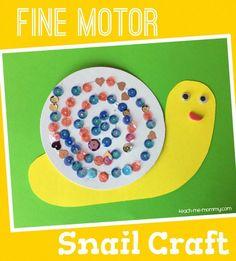 Fine Motor Snail Craft for Kids!
