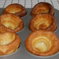 Mum always made Yorkshire pudding with roast beef. It& best with Prime Rib and is perfect for soaking up the great Au Jus that the roast renders. Or just pour gravy over them. It& a super easy and delicious British treat! How To Make Yorkshire Pudding, Yorkshire Pudding Recipes, Roast Beef With Yorkshire Pudding, Yorkshire Pudding Recipe Martha Stewart, Yorkshire Pudding No Milk, Rib Recipes, Cooking Recipes, Recipes Dinner, Roast Beef Recipes