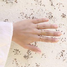 Anillo baguette Creta Rose Gold, anillo de plata de ley con baño de oro de…