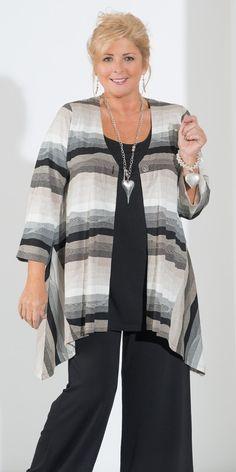 Kasbah black/natural jersey stripe jacket