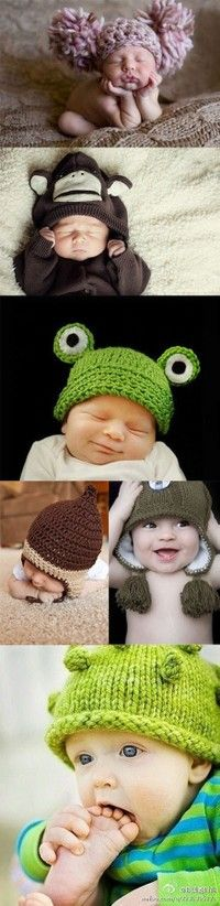i love baby hats!! liam has a blue bomber knitted hat, a green knitted owl hat, 3 more bomber hats, a carhartt hat, and some caps